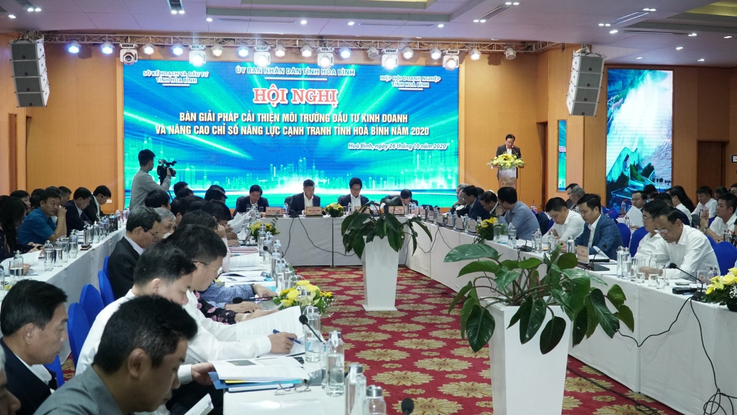 "Conference ""Solutions to improve business environment and competitive capabilitiy of Hoa Binh province in 2020"""